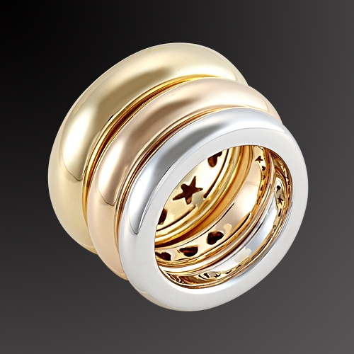 Gold ring K-18 trivero in all colors of gold