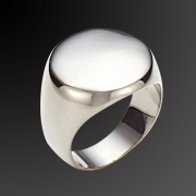 Ring in black gold plated 925 sterling silver