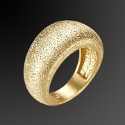 Ring in pink gold plated 925 sterling silver